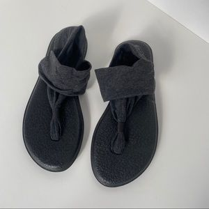 Sanuk Women's Charcoal Yoga Sling 2 Sandals Size 8
